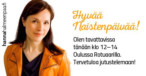Hanna Rotuaarilla 8.3. klo 12-14